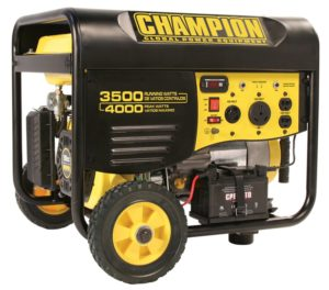 champion gas powered portable generator