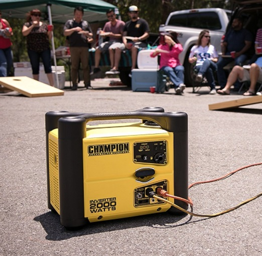 champion 2000 watt inverter generator camping tailgating