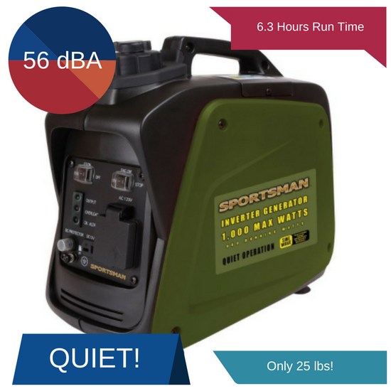 sportsman 1000 watt inverter generator review 2018