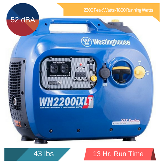 westinghouse wh2200ixlt specifications 2018