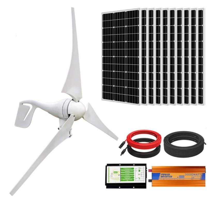 1400w eco worthy solar wind hybrid power kit review